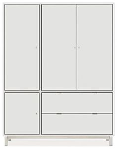 Copenhagen 58w 24d 75h Cabinet in White with Stainless Steel - Cabinets & Armoires - Living: Accent Tables & Storage - Room & Board