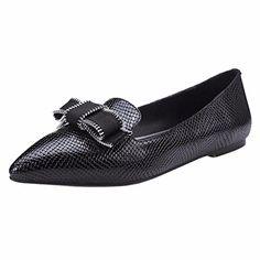 QIYUN.Z Frauen Flache Ferse Schwarze Kuhhaut Spitze Zehe Art Und Weise Mädchen Boot Flachen Schuh - http://on-line-kaufen.de/qiyun-z/qiyun-z-frauen-flache-ferse-schwarze-kuhhaut-zehe