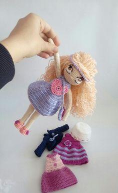 Мy crochet doll Handmade with love. Pleteni kuklicki. Irena