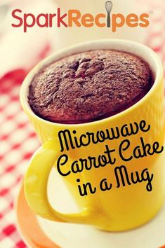 Sometimes all you need is a single-serving of one of your favorite desserts. Try this microwave carrot cake in a mug when you want something sweet, but only want one! Mug Recipes, Cake Recipes, Cooking Recipes, Dessert Recipes, Keto Recipes, Mug Cake Microwave, Microwave Recipes, Chocolates, Cake Mug