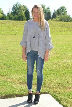 Slay In Grey Sweater