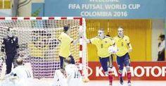 En el mundial de futsal, Colombia no ha podido pasar de la igualdad