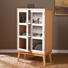 southern enterprises halifax natural oakwhite doubledoor cabinet