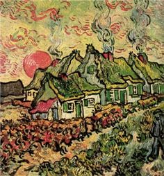 Cottages Reminiscence of the North - Vincent van Gogh 1890