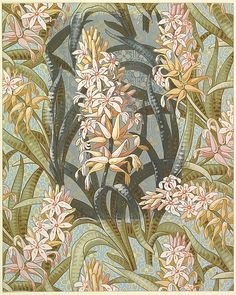 Wallpaper Design with Hostas or Marsh Lilies Anonymous, British, late 19th to early 20th century
