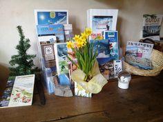 La déco de printemps 2015 dans l'accueil du Clôt !