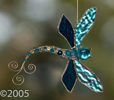 Beaded Dragonfly by FunkyWindowGlass on Etsy, $23.00
