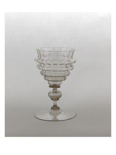 Coupe sur pied godronnée - Musée national de la Renaissance (Ecouen)