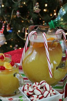 Holiday Surprise Punch , ginger ale