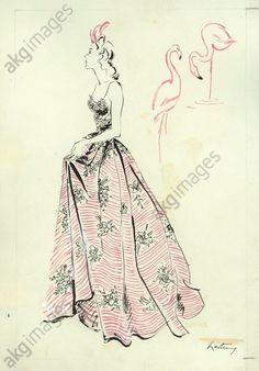 Design for an evening dress, 1942 © akg-images / Gerd Hartung