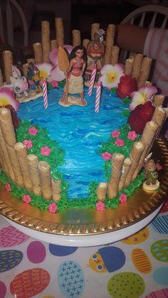 Moana birthday cake  diy