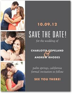 Photo Booth Shoot - Save the Date Postcards - Julia Tuohy - Orange Sherbet - Orange : Front Save The Date Invitations, Save The Date Postcards, Save The Date Cards, Wedding Invitations, Shower Invitations, Invites, Wedding Save The Dates, Our Wedding, Dream Wedding
