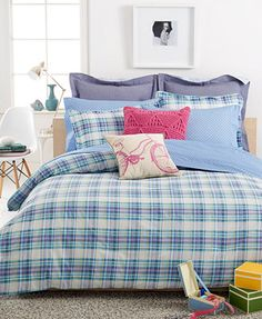 Tommy Hilfiger Georgetown Plaid Comforter Sets