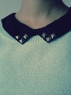 Studded collar! #fashion #trendy