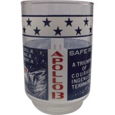 Apollo 13 Commemorative Drinking Glass Tumbler Libbey