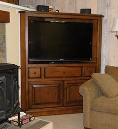 Charmant Thornwood Shelburne Medium Oak Finish Corner Entertainment Unit    WallUnitDealers.com | REMODELING IDEAS | Pinterest | Corner Tv, Corner  Entertainment Unit ...