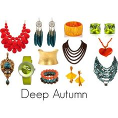 Deep Autumn jewelry