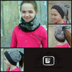 Bun hats are all the rage right now! Check out this convertible crochet bun hat (or ponytail hat)/crochet cowl pattern  - you'll love the cable design!
