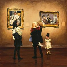 Pauline Roche ~ 'A Cuddle in the Gallery'