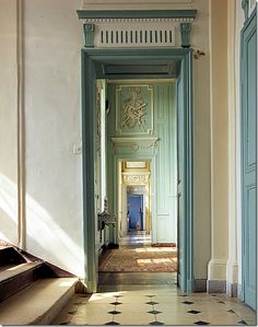 An enfilade: rooms that open up-one after the other