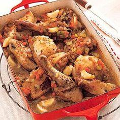 Chicken with 40 Cloves of Garlic   MyRecipes.com