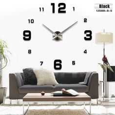 90ed75677 SALE Fashion 2016 new sale wall clock clocks reloj de pared watch diy  Acrylic mirror Stickers Quartz Modern Home Decoration