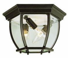 Outdoor Décor-Trans Globe Lighting 4906 BC 612Inch 3Light Outdoor Flushmount Black Copper ** Visit the image link more details.