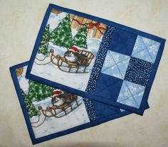 Sewing Christmas Placemats Mug Rugs 26 Ideas Christmas Mug Rugs, Christmas Placemats, Christmas Sewing, Christmas Crafts, Christmas Quilting, Christmas Kitchen, Christmas Ideas, Xmas, Mug Rug Patterns
