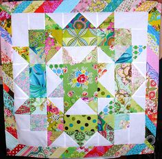 Dee I love your use of pattern and color, soooo fun! Big Block Quilts, Star Quilt Blocks, Cute Quilts, Star Quilts, Scrappy Quilts, Baby Quilts, Mini Quilts, Quilting Projects, Sewing Projects