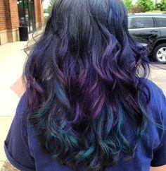 Peacock hair color done by Kelly Ann @ Astraya Salon! Follow me on FB @ Astraya Salon for daily pics! To contact me call 224-201-2223 or astrayasalon@yahoo.com