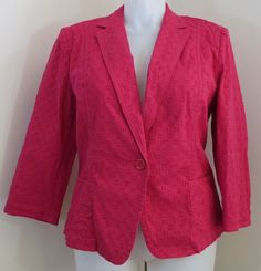 """TALBOTS"" PINK BLAZER JACKET SIZE 18 - PLEASE SEE ALL PICTURES #Talbots #BasicJacket"