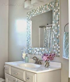 DIY: Kαθρέφτης ΜΠΑΝΙΟΥ με ΠΛΑΚΑΚΙΑ | ΣΟΥΛΟΥΠΩΣΕ ΤΟ