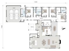 Walk in Wardrobe: 10 Best Walk in Robe Ideas & Designs Best House Plans, Dream House Plans, Small House Plans, House Floor Plans, Modern Bungalow House, Modern House Design, Floor Plan 4 Bedroom, Villa Plan, Interior Decorating Tips