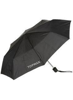 Black Topman Branded Umbrella @ topman.com
