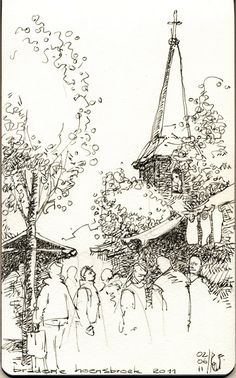 rene fijten sketches - I like the treatment of the foliage
