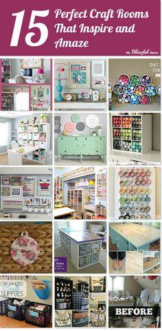 15 perfect craft rooms that inspire and amaze! http://www.hometalk.com/l/D9u