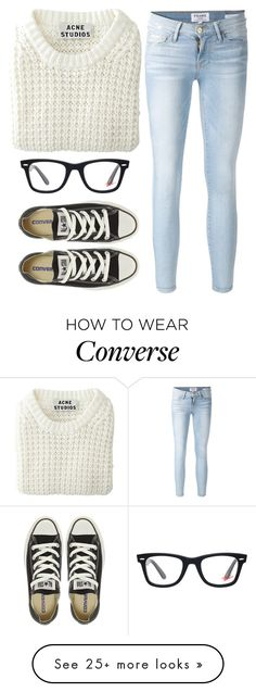 """""""Very simple set"""" by halliec on Polyvore featuring Frame Denim, Acne Studios, Converse, Ray-Ban, minimal, Minimalist, minimalism and Minimaliststyle"""