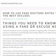 Fake doctor's notes can help you get out of work or school any ...