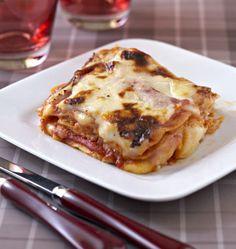 Lasagnes jambon raclette - les meilleures recettes de cuisine d'Ôdélices