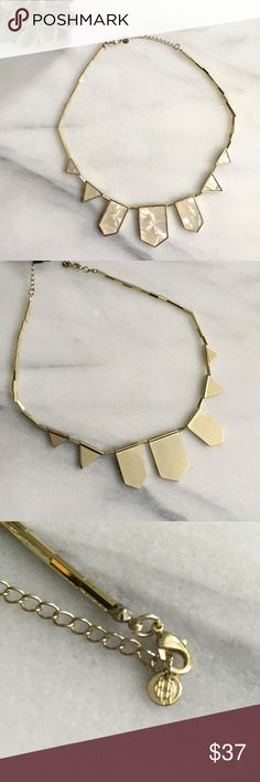 """HOUSE OF HARLOW 1960 Stone Detail Necklace Gold-tone bezel set stone station necklace. Lobster clasp. Approx. 18"""" length with 2"""" extension. Excellent condition. House of Harlow 1960 Jewelry Necklaces"""