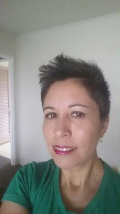 Short pixie hair cut :) natural hair .