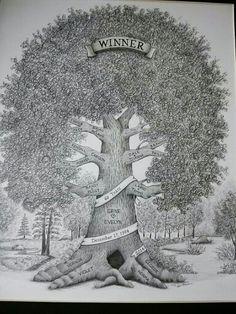 """11""""x 14"""" Hand drawn Family Tree, $125.  www.story-tree.com"""