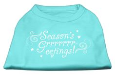Seasons Greetings Screen Print Shirt Aqua M (12)