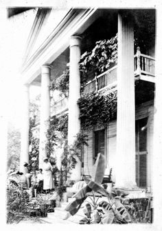 Columned porch of William Nickels home -- Marianna, Florida