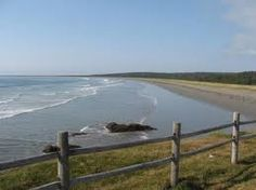 Point Michaud beach - Goes on forever, first surfing experience here...and also home.