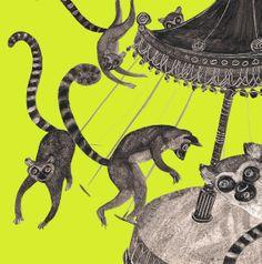 Ogonki - lemury na karuzeli