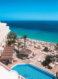 Riu Palace Jandia overlooking Jandía Beach in Fuerteventura, Canary Islands, Spain