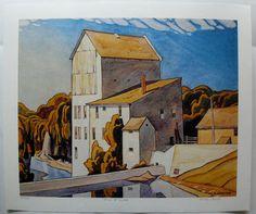 """Group of Seven artist A. Casson first visit to Elora Ontario was in Casson best remembered paintings include """"Mill at Elora"""" Group Of Seven Artists, Group Of Seven Paintings, Paintings I Love, Tom Thomson, Emily Carr, Canadian Painters, Canadian Artists, Monuments, Ontario"""