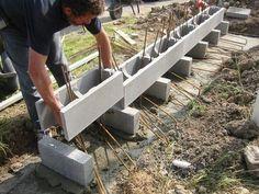 Murs armés: étape par étape | Béton de la Lomme