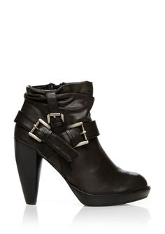GOMAX Black Ginevra buckle boot | ideeli